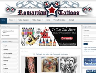 romanian-tattoos.ro screenshot