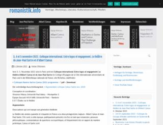 romanistik.info screenshot
