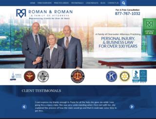 romanromanlaw.com screenshot