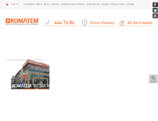 romatem.com.tr screenshot