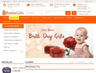 rombagifts.com screenshot
