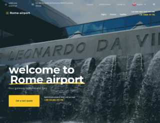 rome-airport.net screenshot