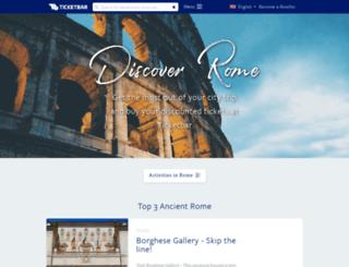 rome.ticketbar.eu screenshot