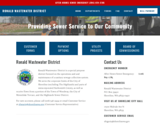 ronaldwastewater.org screenshot