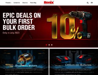 ronixtools.com screenshot