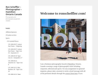 ronscheffler.com screenshot