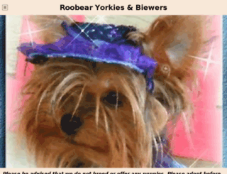 roobearyorkies.net screenshot