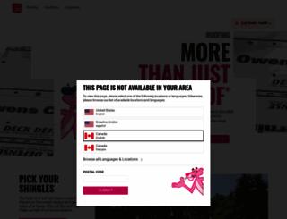 roofingca.owenscorning.com screenshot