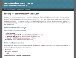 roommatesvancouver.com screenshot