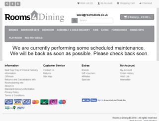 rooms4dining.co.uk screenshot