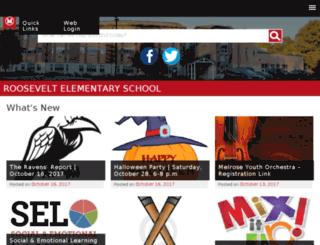 roosevelt.melroseschools.com screenshot