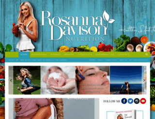 rosannadavisonnutrition.com screenshot