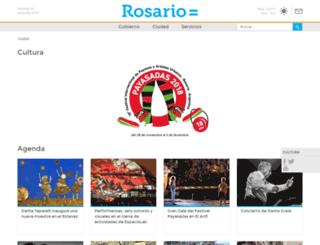rosariocultura.gob.ar screenshot