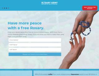 rosaryarmy.com screenshot