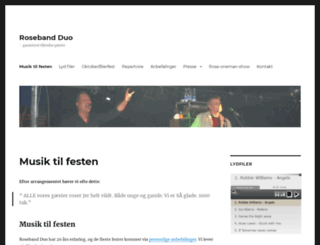 roseband.dk screenshot