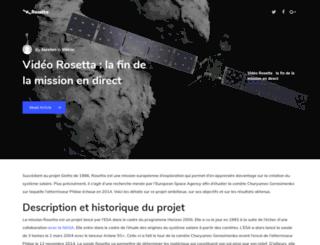 rosetta-cnes.fr screenshot