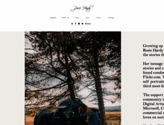 rosiehardy.com screenshot