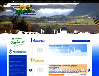 rosieres-ardeche.com screenshot