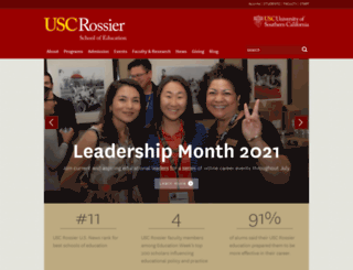 rossier.usc.edu screenshot