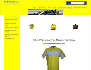 rossimerchandise.com screenshot