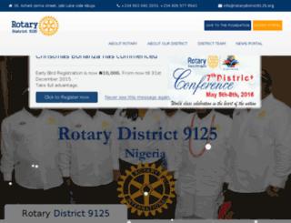 rotarydistrict9125.net screenshot