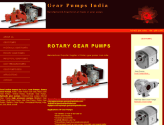 rotarygearpumps.gearpumpsindia.com screenshot