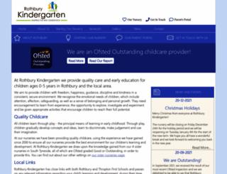 rothburykindergarten.co.uk screenshot