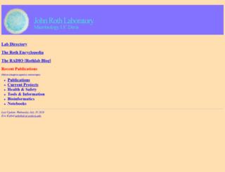 rothlab.ucdavis.edu screenshot
