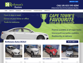 rothmansautos.co.za screenshot