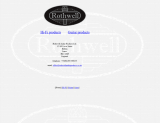 rothwellaudioproducts.co.uk screenshot