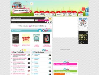 routedesfestivals.com screenshot