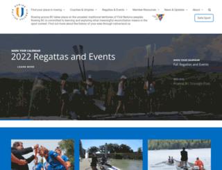 rowingbc.ca screenshot