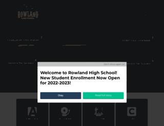 rowlandhs.org screenshot
