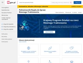 rownetraktowanie.gov.pl screenshot