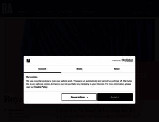 royalacademy.org.uk screenshot