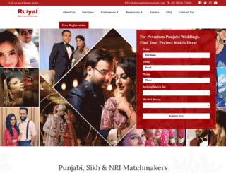 royalmatrimonial.com screenshot