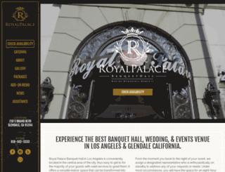 royalpalacebanquet.com screenshot