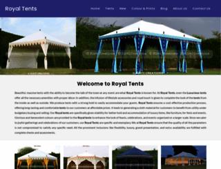 royaltents.com screenshot