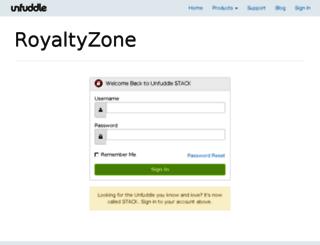 royaltyzone.unfuddle.com screenshot