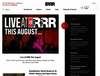 rrr.org.au screenshot