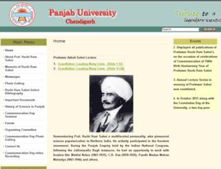 rrsahni150.puchd.ac.in screenshot