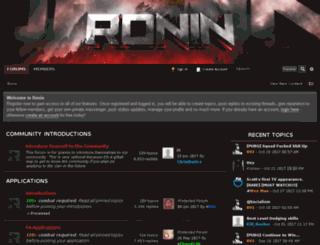 rs-ronin.net screenshot