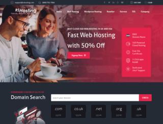 rshosting.com screenshot