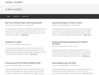 rsolberg.com screenshot