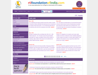 rtifoundationofindia.com screenshot