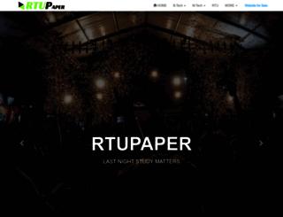 rtupaper.com screenshot