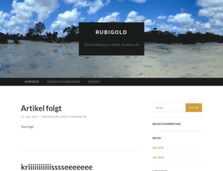rubigold.wordpress.com screenshot