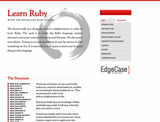 rubykoans.com screenshot