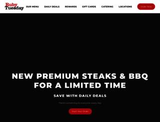 rubytuesday.com screenshot
