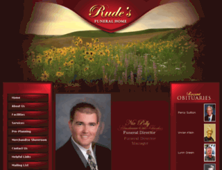 rudesfuneralhome.com screenshot